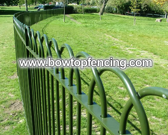 Solid Steel Bar Bow Top Fencing/Railings